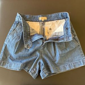 Madewell Denim Pleated Shorts